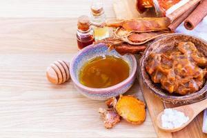 tutti gli ingredienti thailandesi per la cura della pelle. foto