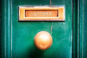 vecchio slot di posta foto