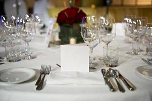 tavolo da ristorante foto