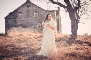 bella sposa all'aperto foto