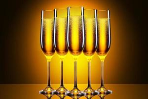 bicchiere di champagne di lusso foto
