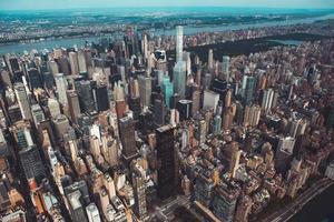 veduta aerea di grattacieli a new york