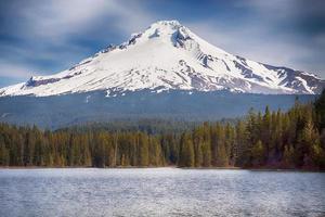 montagna coperta di neve foto