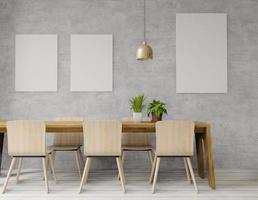 loft 3d in stile industriale foto