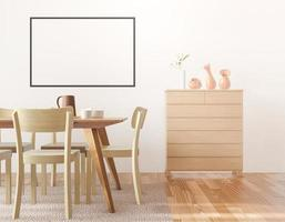 sala da pranzo e cornice della cucina per mock up