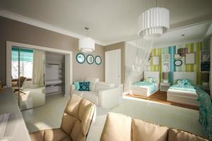 camera da letto dei bambini interni foto