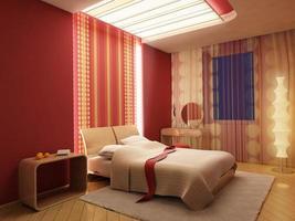 Rendering 3d camera da letto