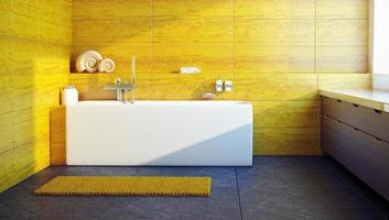 interni dal design moderno di un bagno foto