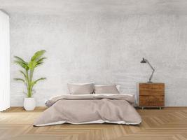 camera da letto in stile loft