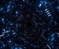 astronave futuristica del tunnel
