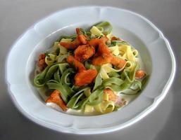 piatto di funghi noodle foto
