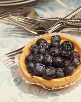 una crostata di mirtilli