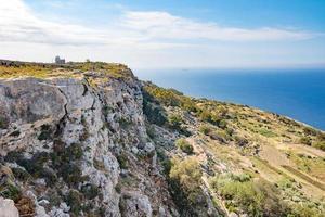 scogliere rocciose a Malta foto