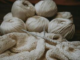 gomitoli di lana foto