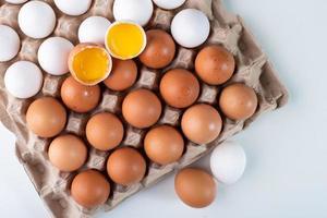 uova in cartone foto