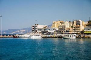 dock a Cipro in una giornata di sole foto