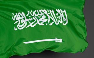 bandiera nazionale dell'arabia saudita foto