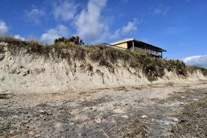 spiaggia erosione dopo l'uragano matthew