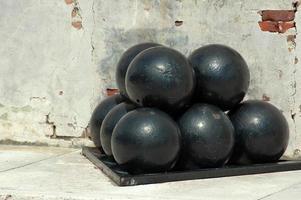 palle di cannone nere
