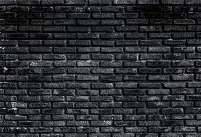 muro di mattoni neri foto