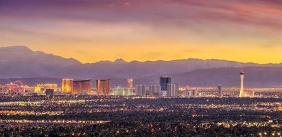 panorama vista sul paesaggio urbano di las vegas