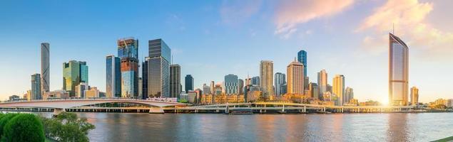 skyline della città di brisbane foto
