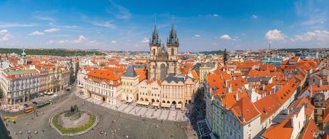 piazza della città vecchia, repubblica ceca foto