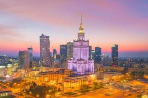 skyline della città di varsavia