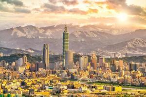 skyline della città di taipei