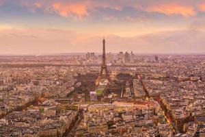 vista sullo skyline di parigi foto