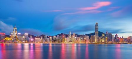 vista panoramica di hong kong foto