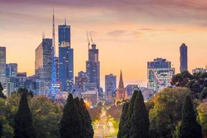 skyline della città di melbourne foto