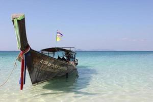 barca in spiaggia foto