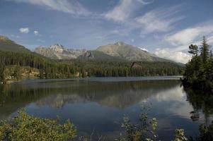 pittoresco lago di montagna
