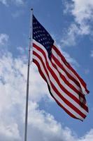 sventolando la bandiera americana