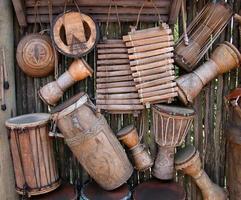 strumenti a percussione africani foto
