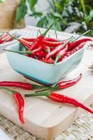peperone rosso isolato foto