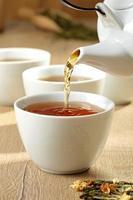 flusso di tazza di tè foto