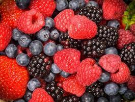 sfondo di frutti di bosco mix