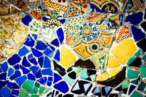 parco guell mosaico sfondo foto