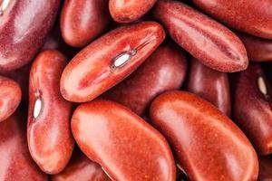 closeup estrema trama di fagioli rossi