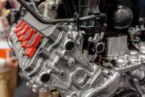 foto di dettaglio di un motore di automobile