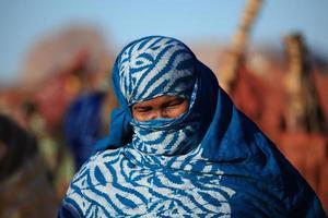 tuareg nel sahara foto