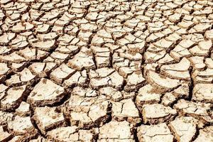 rottura del suolo con la calda stagione estiva foto