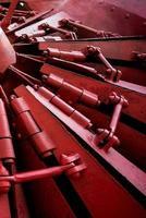lama spazzaneve rossa della ferrovia foto