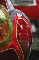 casco da motociclista vintage metalflake foto