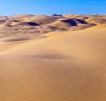 duna di sabbia in alba nel deserto foto