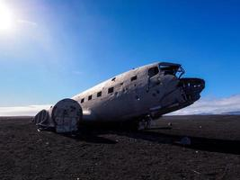 il relitto di un aereo militare americano si è schiantato in Islanda foto