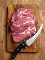 carne fresca cruda foto