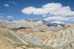 vista del paesaggio sulle montagne innevate in ladakh foto